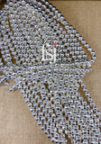 10mm Faceted Hematite Light Silver Plated - FSJ Beading Supplies
