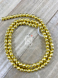 4mm Faceted Hematite Light Gold Plated - FSJ Beading Supplies