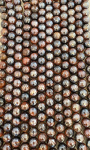 12mm Electroplated Brown Tiger's Eye Faceted - FSJ Beading Supplies
