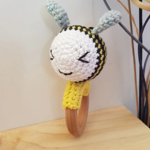 Made 4 MacKenzie Bee rattle/teether