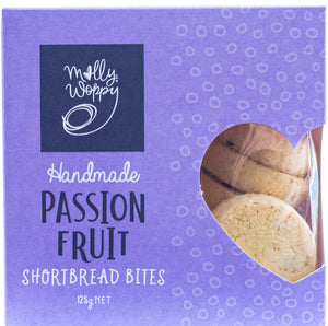 Molly Woppy handmade passionfruit shortbread bites