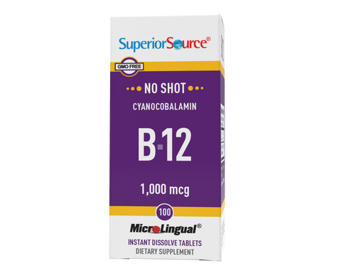 Superior Source NO SHOT B-12 1,000 mcg (as Cyanocobalamin)