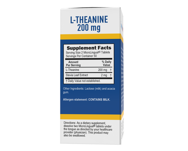 Superior Source L Theanine 200mg Sublingual Instant Dissolve Tablets