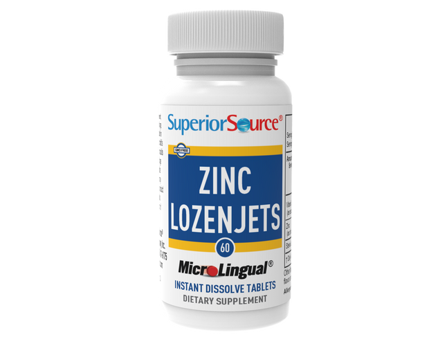 Superior Source Zinc Lozenjets with Vitamin C 15 mg and Zinc 5 mg