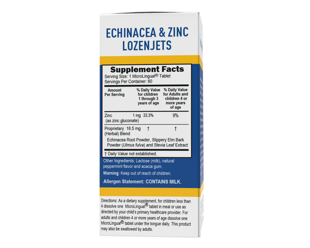 Superior Source Child Formula Echinacea and Zinc Lozenjets Nutritional Supplements