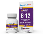 Superior Source NO SHOT Methylcolbalamin Activated B-12 1,000 mcg / B-6 (P-5-P) & Methylfolate 1,000 mcg