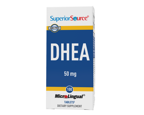 Superior Source DHEA Supplement 50mg (Multiple Sizes)