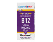 Superior Source NO SHOT Methylcobalamin B-12 1,000 mcg/ Folic Acid 400 mcg
