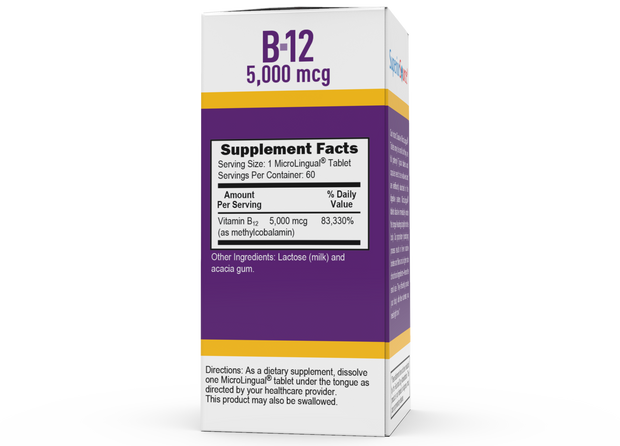 Superior Source NO SHOT Methylcobalamin B-12 5,000 mcg
