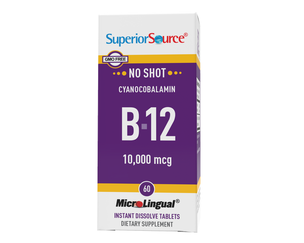 Superior Source NO SHOT B-12 10,000 mcg (as Cyanocobalamin)
