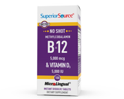 Superior Source NO SHOT Methylcobalamin B-12 5,000 mcg / D3 5,000 IU