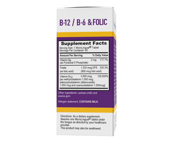 Superior Source NO SHOT Triple B-12 3,000 mcg / B-6 / Folic Acid 800 mcg