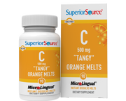 "Superior Source Vitamin C 500 mg ""Tangy"" Orange Melts"