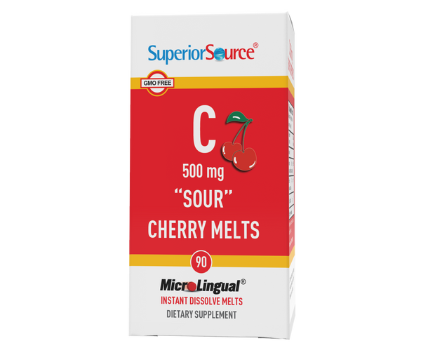"Superior Source Vitamin C 500 mg ""Sour"" Cherry Melts"
