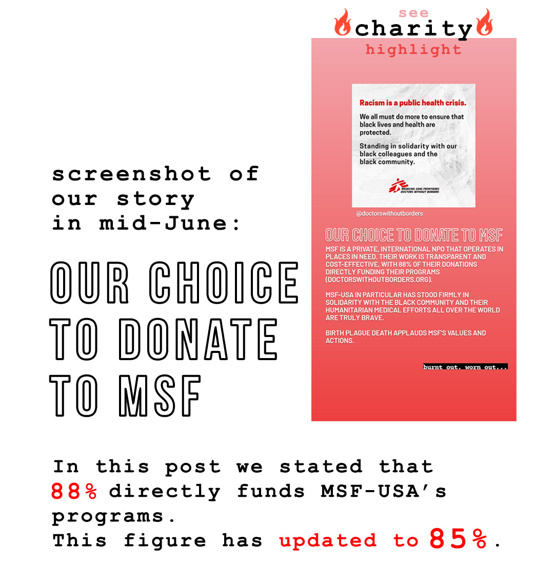 2: our choice to donate to MSF