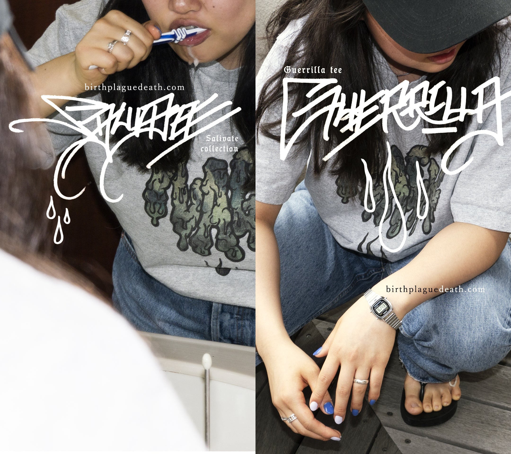 Model photo / Guerrilla Tee / Salivate Collection  / drops 6/26(fri)