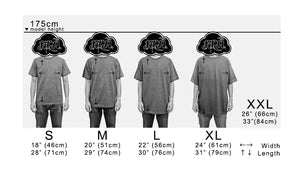 Size chart for Alstyle Tees