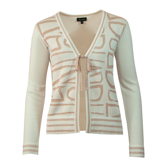 PULL RUIT ACCENT FASHION  (CAIRO OFFWHITE PEACH) - Delaere Womenswear