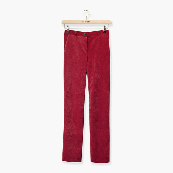 BROEK ROOD ACCENT FASHION  (HOUSE 7219/BRICK) - Delaere Womenswear