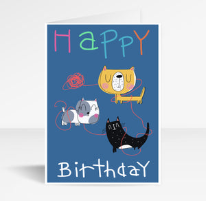 Happy Birthday (Cats) - Greeting Card