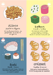 Foods of the World Printable Flashcards!