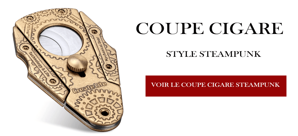 Coupe Cigare Double Lame Style Steampunk