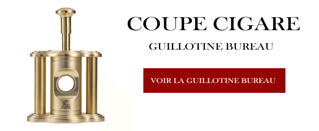 Coupe Cigare Guillotine Version Or pour Bureau