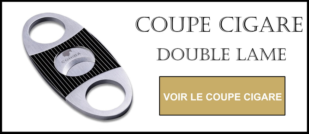 Coupe cigare double lame