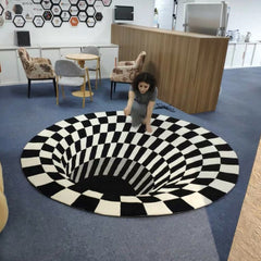 60% Off 3D Black Hole Vortex Illusion Rug - Fun Tech Gifts