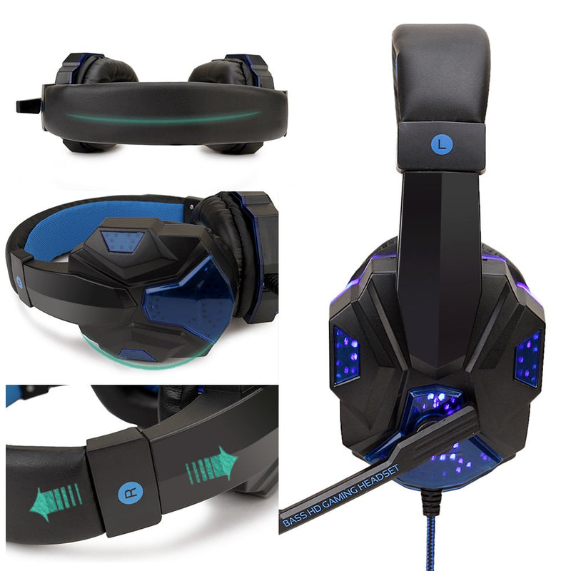 Professional Led Light Gaming Headphones for PS4 Computer - Fun Tech Gifts