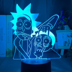 Rick and Morty 3D Nightlight w/Touch Sensor/Remote - Fun Tech Gifts