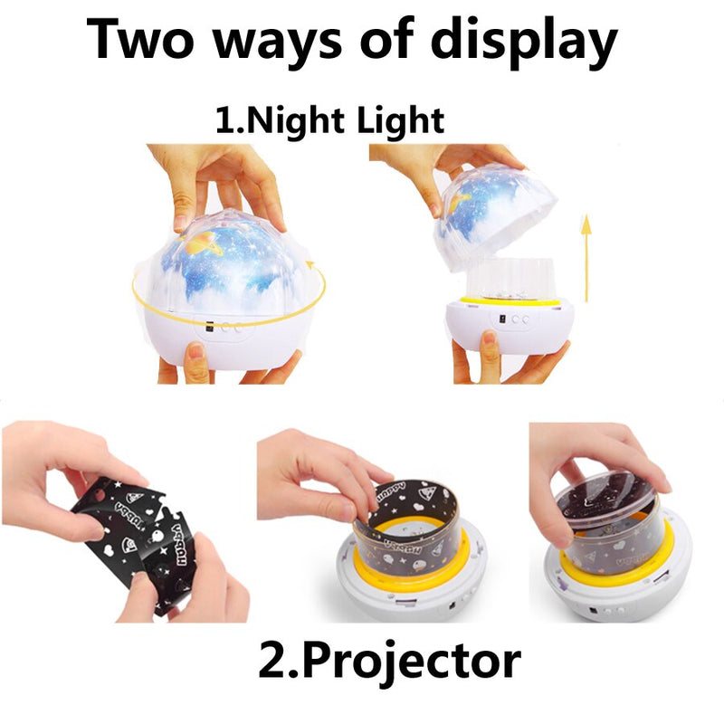 Planets Solar System Nightlight Projector Toy For Kids Children Baby - Fun Tech Gifts