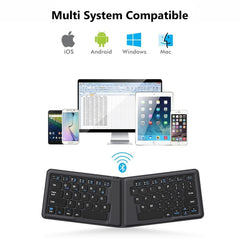 Leather Mini Bluetooth Keyboard for iPhone, Android phone, Tablet, iPad, PC - Fun Tech Gifts