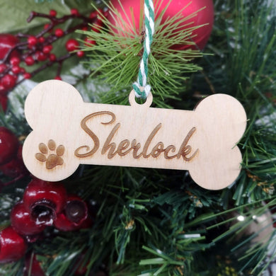 Dog Bone Christmas Decoration - Hillside Crafts