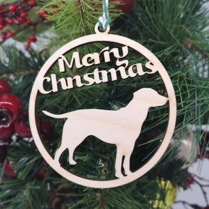 Dog Breed Outline Christmas Decoration - Hillside Crafts