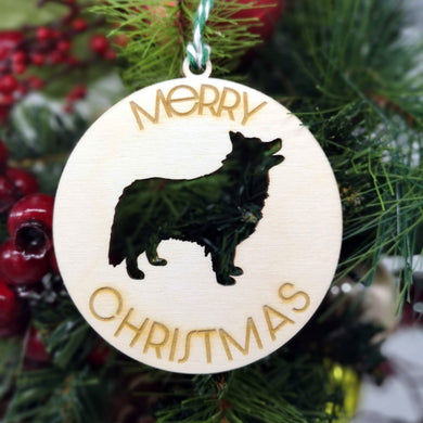 Dog Breed Cut-out Christmas Decoration - Hillside Crafts