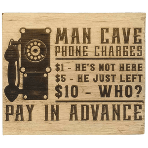 """Man cave phone charge..."" Gift Block - Hillside Crafts"