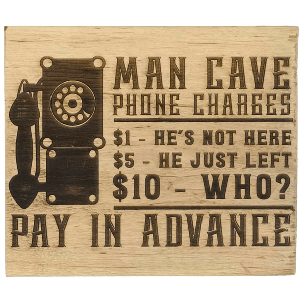 """Man cave phone charge..."" Gift Block"