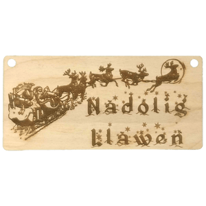 """Nadolig Llawen"" Sign - Hillside Crafts"