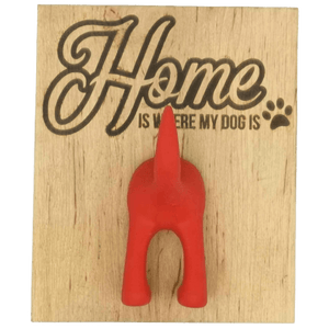 """Home is where my dog is"" Single Dog Lead Holder - Hillside Crafts"