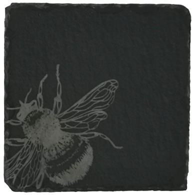 Set of 4 Bee Slate Coasters