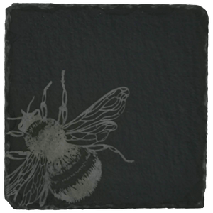 Set of 4 Bee Slate Coasters - Hillside Crafts