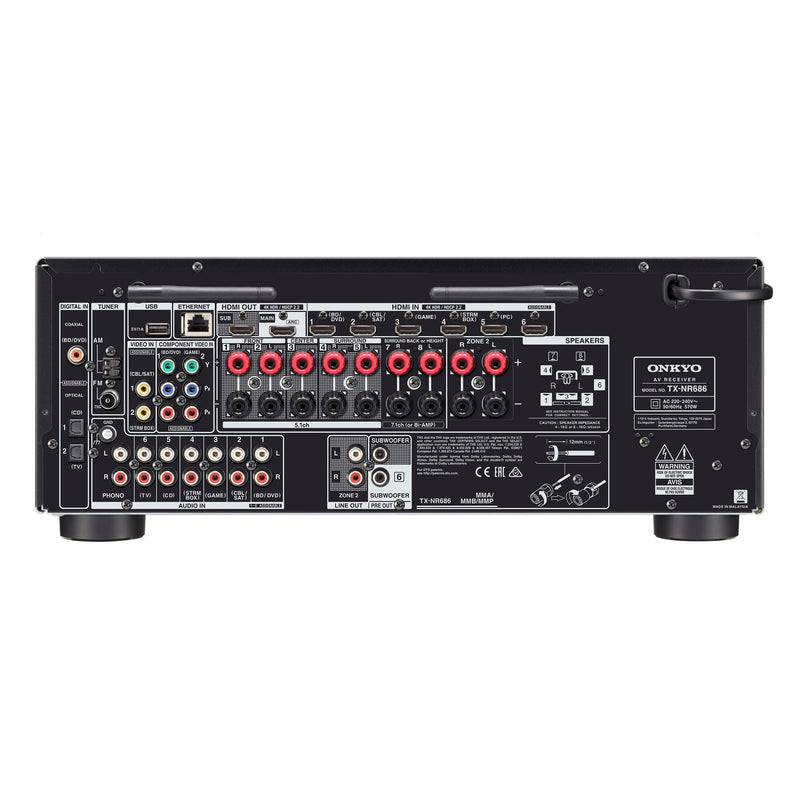 ONKYO TXNR686B 7.2 Channel Network AV Receiver.