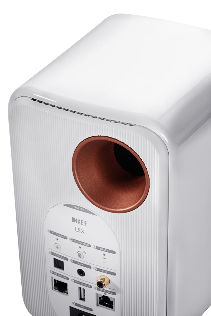 KEF LSX Wireless Mini Monitor Speakers. 4'' Colour - Gloss white, sold as pair.
