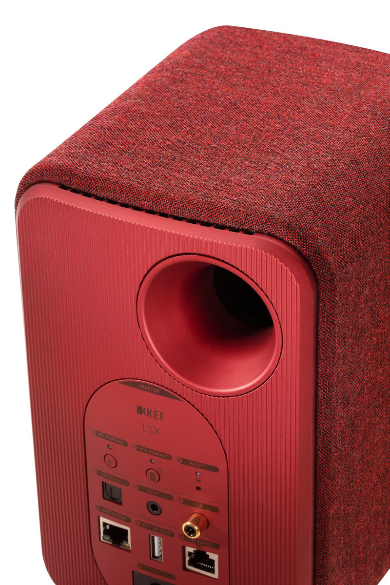 KEF LSX Wireless Mini Monitor Speakers. 4'' Colour - Maroon Red, sold as pair. ( Black Friday Deal Ends Monday )