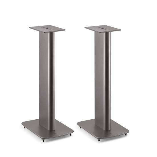 KEF Performance Speaker Stands For KEF Bookshelf Speakers. Colour Titanium. Sold as a Pair