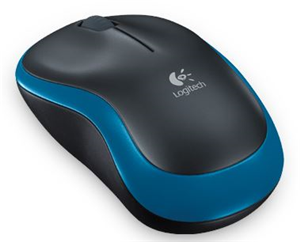 Logitech M185 USB Wireless Compact Mouse - Blue