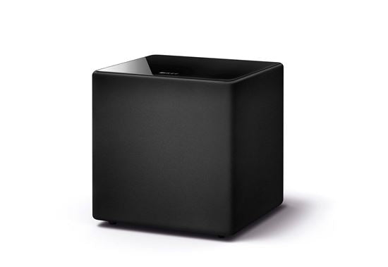 KEF 10'' 300W Subwoofer. 1x 250mm driver. 24~140Hz. 111dB. RCA phono sockets. Speaker level inputs. Colour Black