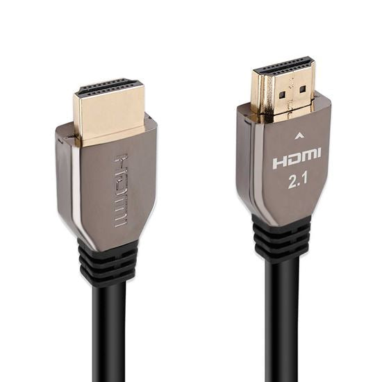 PROMATE 2m HDMI 2.1 Full Ultra HD (FUHD). Supports up to 8K. Max. Res 7680x4320@60Hz. Supports Dynamic HDR & eARC. Gold Plated Connectors.