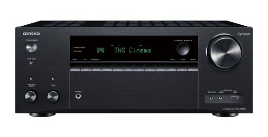 ONKYO TXNR696B 7.2 Channel Network AV Receiver. HDMI 7 in, 2 out. Dolby Atmos & DTS:X reproduction. HDMI 4K@60Hz support. Theatre dimensional virtual surround function. Colour Black